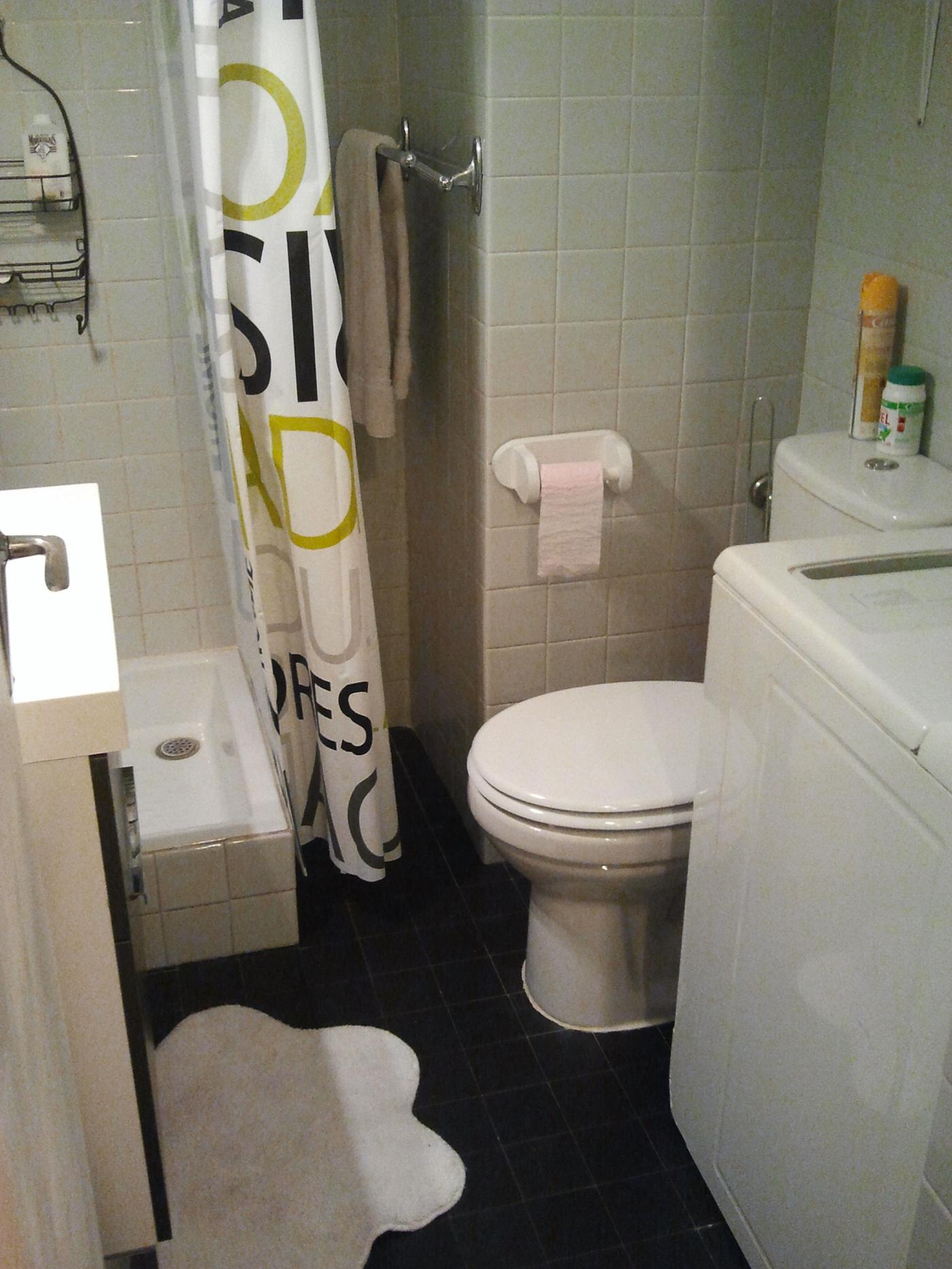 salle de bain + lave linge